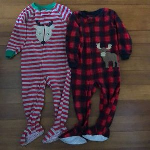 Fleece footed pajamas, 2T